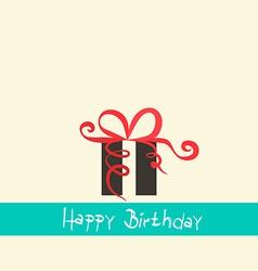 Flat Design Happy Birthday Retro Simple with vector image vector image