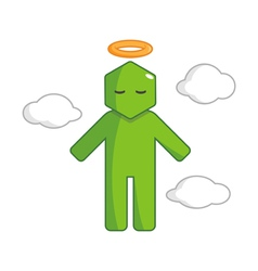 Hexagon Man - Go To Heaven vector image