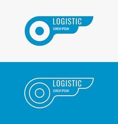 Logo for logistics company vector image