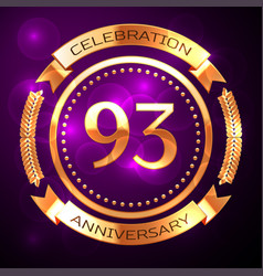 ninety three years anniversary celebration with vector image vector image