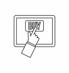 Online shopping icon outline style vector image vector image