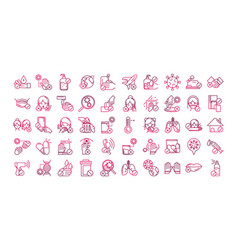 Avoid and prevent spread covid19 icons set vector