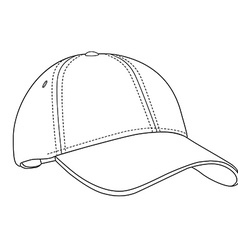 Baseball cap outlinme vector image