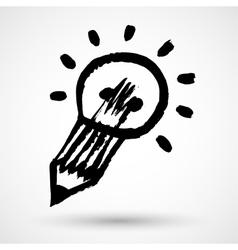 Big idea design grunge concept vector