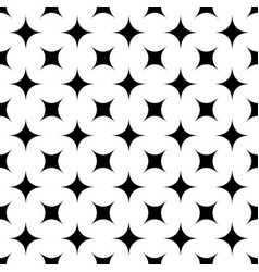Black and white seamless abstract geometric star vector