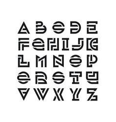 Bold broken latin font vector