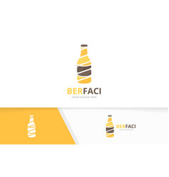 bottle logo combination beer symbol or vector image