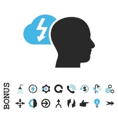 Brainstorming Flat Icon With Bonus vector image
