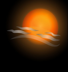 bright sunset vector image