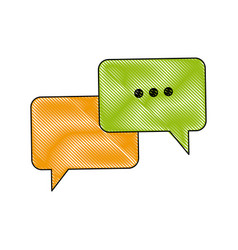 Bubble speech talk message communication web app vector