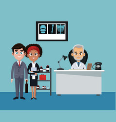 Businessman and doctor vector