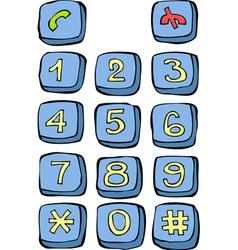Button phone vector