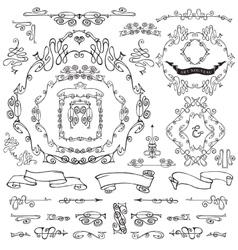 Calligraphic Royal Design ElementsFramesBorders vector image
