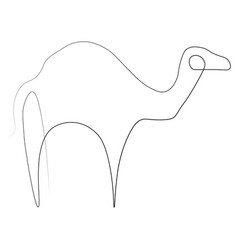 camel one line vector image