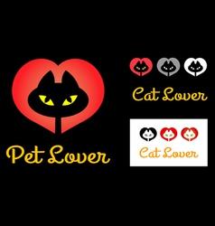 Cat lover symbol vector