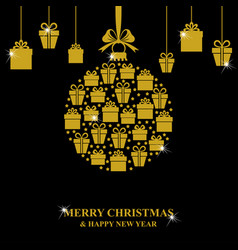 Christmas gifts hanging vector