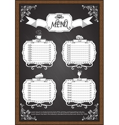 Coffee menu on chalkboard design elements vector