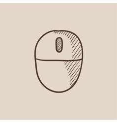 Computer mouse sketch icon vector