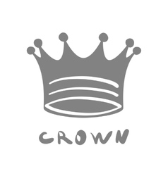 Crown icon king cute isolated success queen vector image