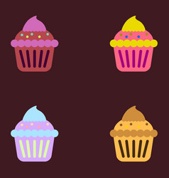 Cupcake collection vector