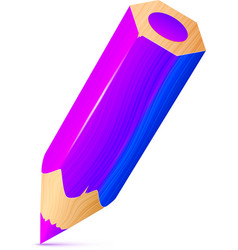 cute violet wooden little pencil vector image