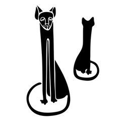 design with cats vector image