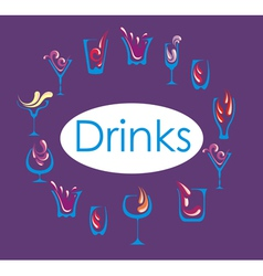 Drink alcohol menu vector image