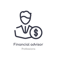 Financial advisor outline icon isolated line from vector