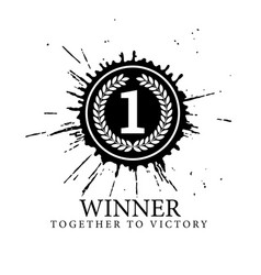 first place mark the number 1 is surrounded a vector image