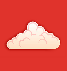fluffy cloud clipart in cutted style on vector image