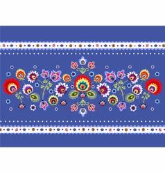 Folk Pattern With Flower vector
