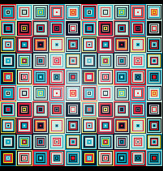 geometric pattern of squares vector image