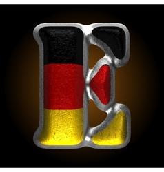 Germany metal figure e vector