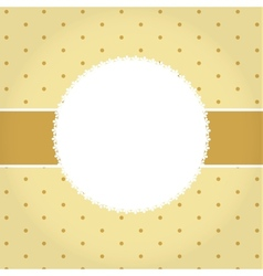 greeting golden card or cover Space for your text vector image