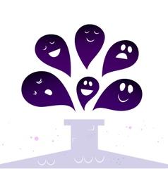 halloween ghost creatures vector image