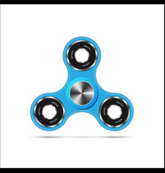 hand fidget spinner toy - stress and anxiety vector image