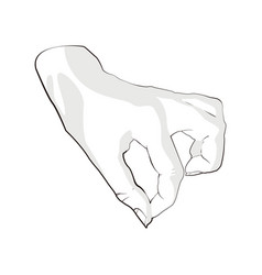 Hand reaching for something on white background vector