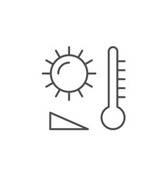 Heating temperature line outline icon vector