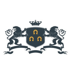 Heraldic lion18 vector
