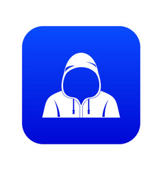 hood icon digital blue vector image
