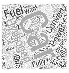 How Hydrogen Fuel for Cars Work Word Cloud Concept vector