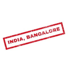 India Bangalore Rubber Stamp vector image