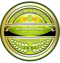 Lemonade with lime label vector