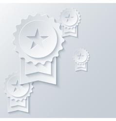 Modern award light background vector