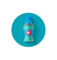 Mouthwash icon in a flat style design vector