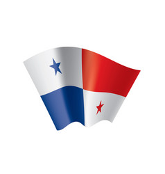 panama flag on a white vector image
