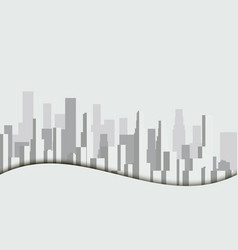 panorama of city with skyscrapers megalopolis vector image