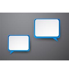 Paper white-blue speech bubbles vector image