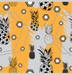 Pinapple festival-fruit delight seamless repeat vector