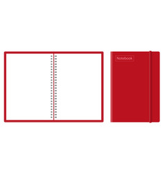 Realistic mock-up notepad spiral vector